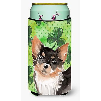 Long Haired Chihuahua St. Patrick's Tall Boy Beverage Insulator Hugger