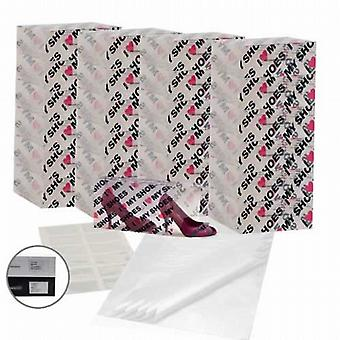 Patterned Shoe-Stacking Set (25 Boxes, 12 Pockets & 25 Tissue Sheets)