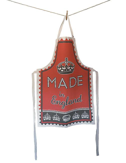 Red Made in England Apron