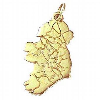 Mapa de 29x15mm plata de colgante de Irlanda