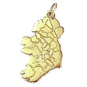 Silver 29x15mm Map of Ireland Pendant