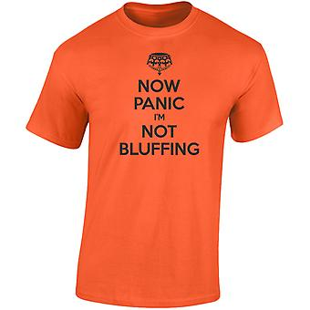 Now Panic I'm Not Bluffing Cards Poker Mens T-Shirt 10 Colours (S-3XL) by swagwear