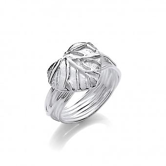 Cavendish French Silver Leaf Heart Ring