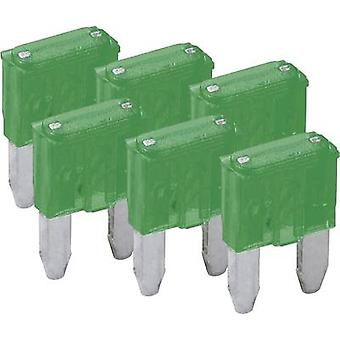 Mini blade-type fuse, 6-pack 30 A Green FixPoint SORTIMENT 1027-30A KFZM