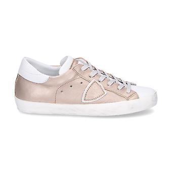 Philippe model ladies CLLDMS13 gold leather sneakers