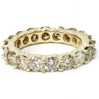 4 Carat Diamond Eternity Ring 14K Yellow Gold