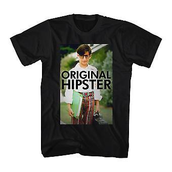 Den underligt år oprindelige Hipster mænds sort T-shirt