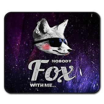 No Fox Beast Funny Animal  Non-Slip Mouse Mat Pad 24cm x 20cm | Wellcoda