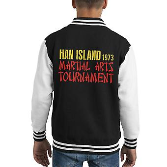 Enter The Dragon Ham Island Martial Arts Tournament Kid's Varsity Jacket