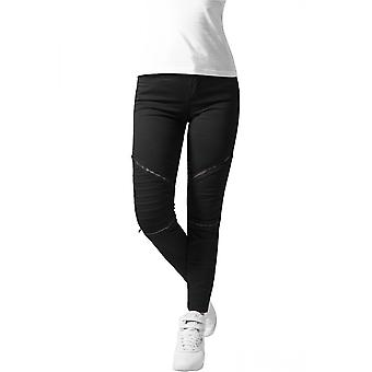 Urban classics ladies biker pants jeans stretch