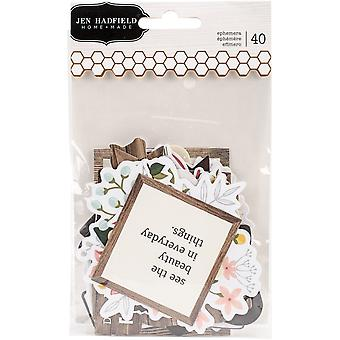 Jen Hadfield Simple Life Ephemera Cardstock Die-Cuts 40/Pkg