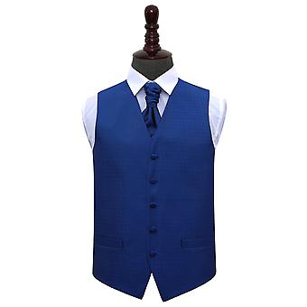Blu Royal matrimonio greco chiave gilet & Cravat Set
