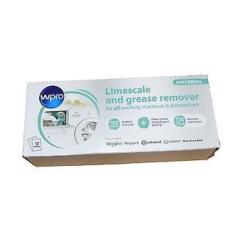 Kalk og vaskemiddel Remover til oppvask- og vaskemaskiner 12 emballere