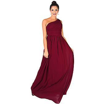 KRISP kvinnor Maxi klänning formell en off Shoulder klänning chiffon afton Bröllops fest 8-20