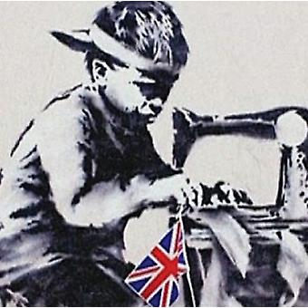 Banksy Child Labour Sewing Union Flag Drinks Mat / Coaster