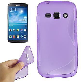 Schutzhülle TPU Case für Handy Samsung Galaxy Ace 3 S7272 lila