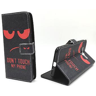 Handyhülle Tasche für Handy Samsung Galaxy J3 Dont Touch Rot