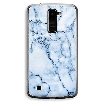 LG K10 (2016) Transparent Case (Soft) - Blue marble