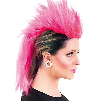 Punk wig Iroquois pink