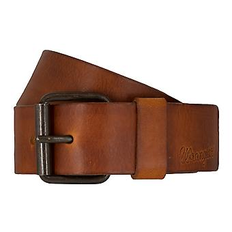 WRANGLER belt leather belts men's belts Cognac 7463