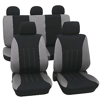 Grey & Black Car Seat Covers For Audi A1 Sportback 2011-2018