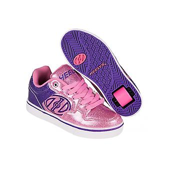 Heelys Purple-Pink Glitter Motion Plus Girls One Wheel Shoe
