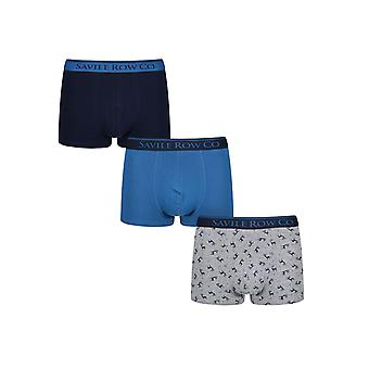 Designer 3 Pack Gift Set Mens Savile Row Trunks Saul Boxes Underwear
