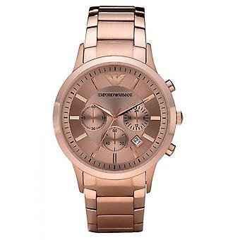Emporio Armani Mens' Chronograph Watch - AR2452 - Rose Gold