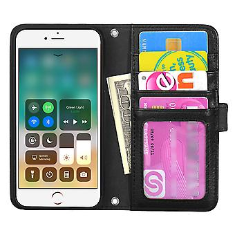 The TOP Left-handed wallet pouch iPhone/8 Plus 7 Plus/6 Plus Black