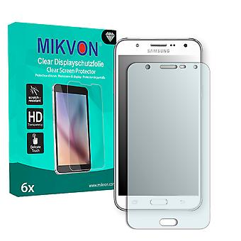 Samsung Galaxy J7 (SM-J700H) Screen Protector - Mikvon Clear (Retail Package with accessories)