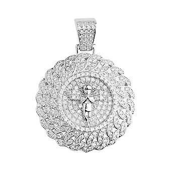 Premium Bling - medallón de plata de ley 925 colgante Ángel