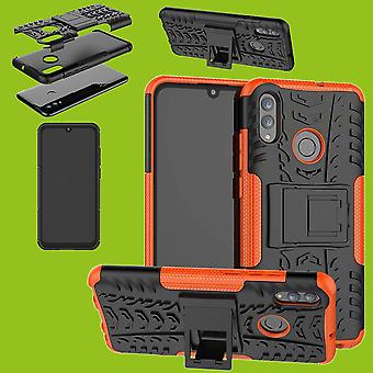 For Huawei P smart 2019 hybrid case 2 piece SWL outdoor Orange bag case cover protection