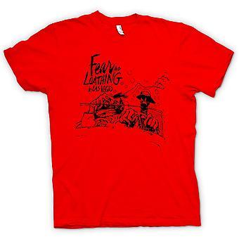 Mens t-skjorte - frykt og avsky - tegneserie - Funny
