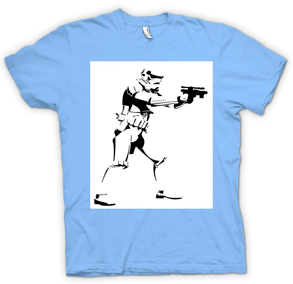 Herr T-shirt-Star Wars - Storm Trooper - Pop Art
