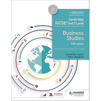Cambridge IGCSE and O Level Business Studies 5th edition by Karen Bor