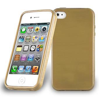 Cadorabo tapa uksessa Omena iPhone 4/iPhone 4S kotelon suojus-puhelimen kotelo joustava TPU silikoni-silikoni kotelo suoja kotelo erittäin ohut pehmeä takakannen kotelo puskuri