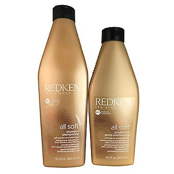 Redken All Soft Hair Shampoo 10.1 oz and Conditioner 8.5 oz DUO for dry / brittle Hair