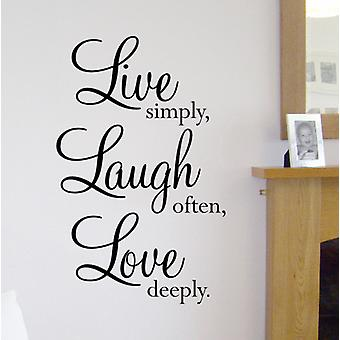 Live wall decal sticker