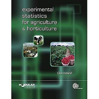 Experimentele statistieken voor land- en tuinbouw