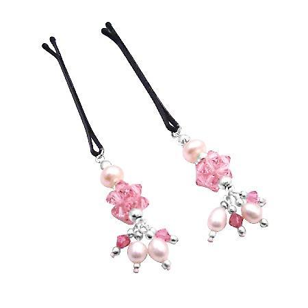 Handmade Perfect Wedding Hair Pin Swarovski Pearls & Crystals