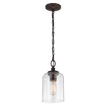 Hounslow Mini hanger olie wreef brons - Elstead verlichting