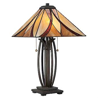 Asheville Tiffany Style Table Lamp - Elstead Lighting Qz / Asheville / QZ/ASHEVILLE/TL