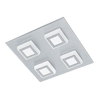 Eglo - Masiano 4 LED luz de techo EG94508 de aluminio cepillado luz