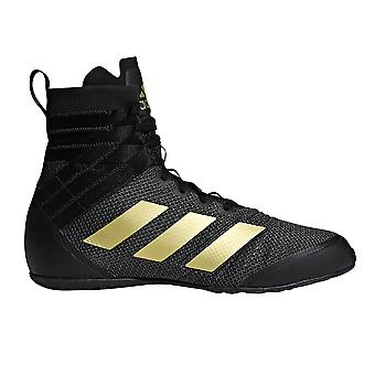 adidas Speedex 18 Mens Adult Boxing Trainer Shoe Boot Black/Gold