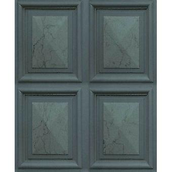 Efecto mármol Panel de madera lujo imitación fondo pegar el vinilo pared Erismann Dark Teal
