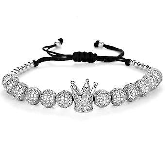 Bracelets-Crown and silver beads