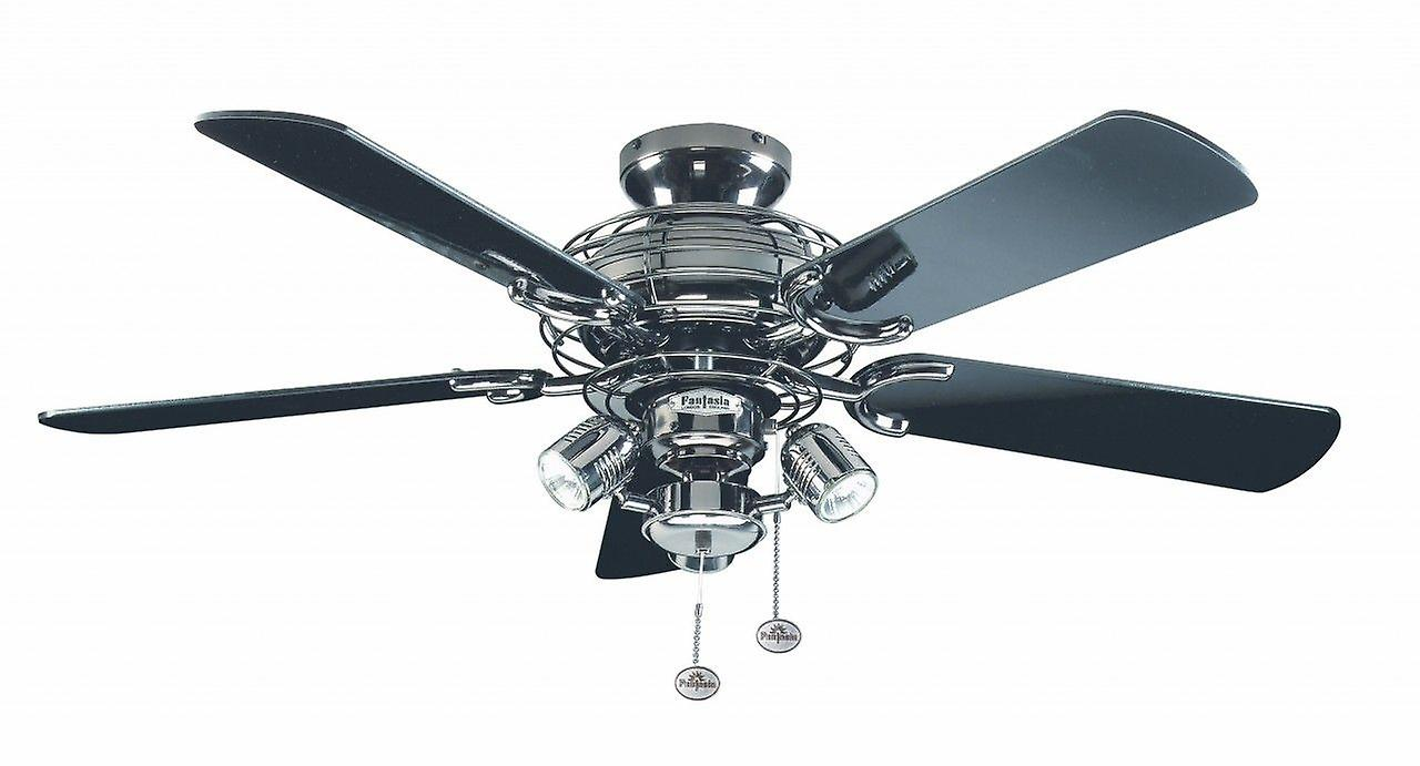 Ceiling Fan Gemini Pewter 107cm   42& 034; with Lights