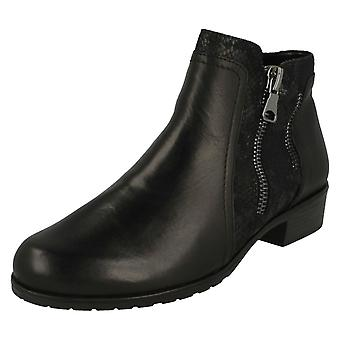 Ladies Remonte Zip Ankle Boots D6870