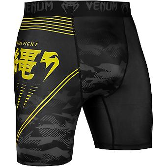 Venum Okinawa 2.0 Compression Shorts - Black/Yellow
