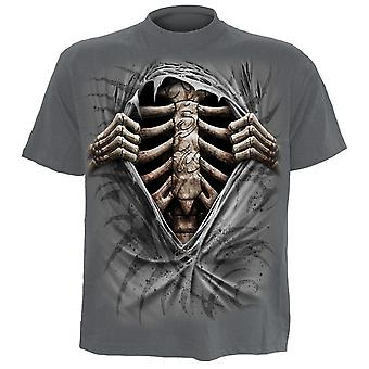 Spiral Direct Gothic SUPER BAD - T-Shirt Charcoal|Skeleton|Tribal|UnDead|Rips